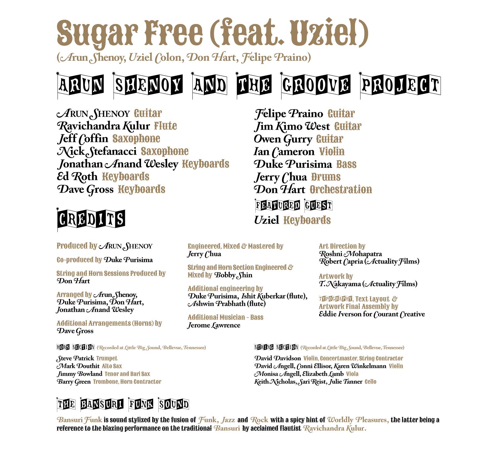 Sugar Free (feat. Uziel) Credits
