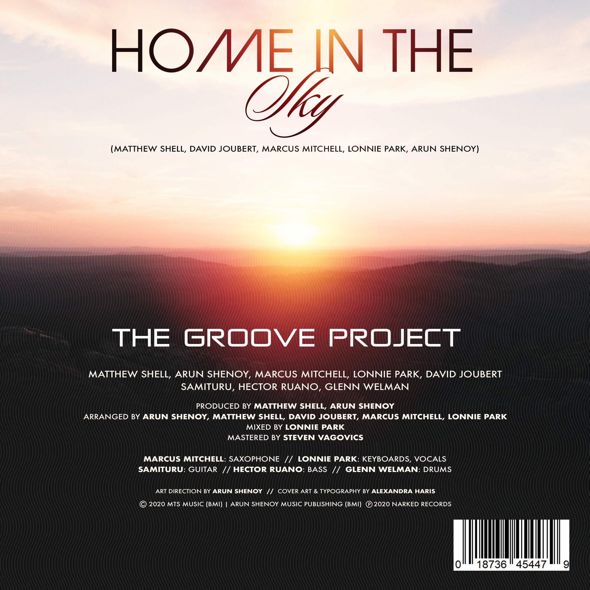 Home In the Sky - Credits Sheet