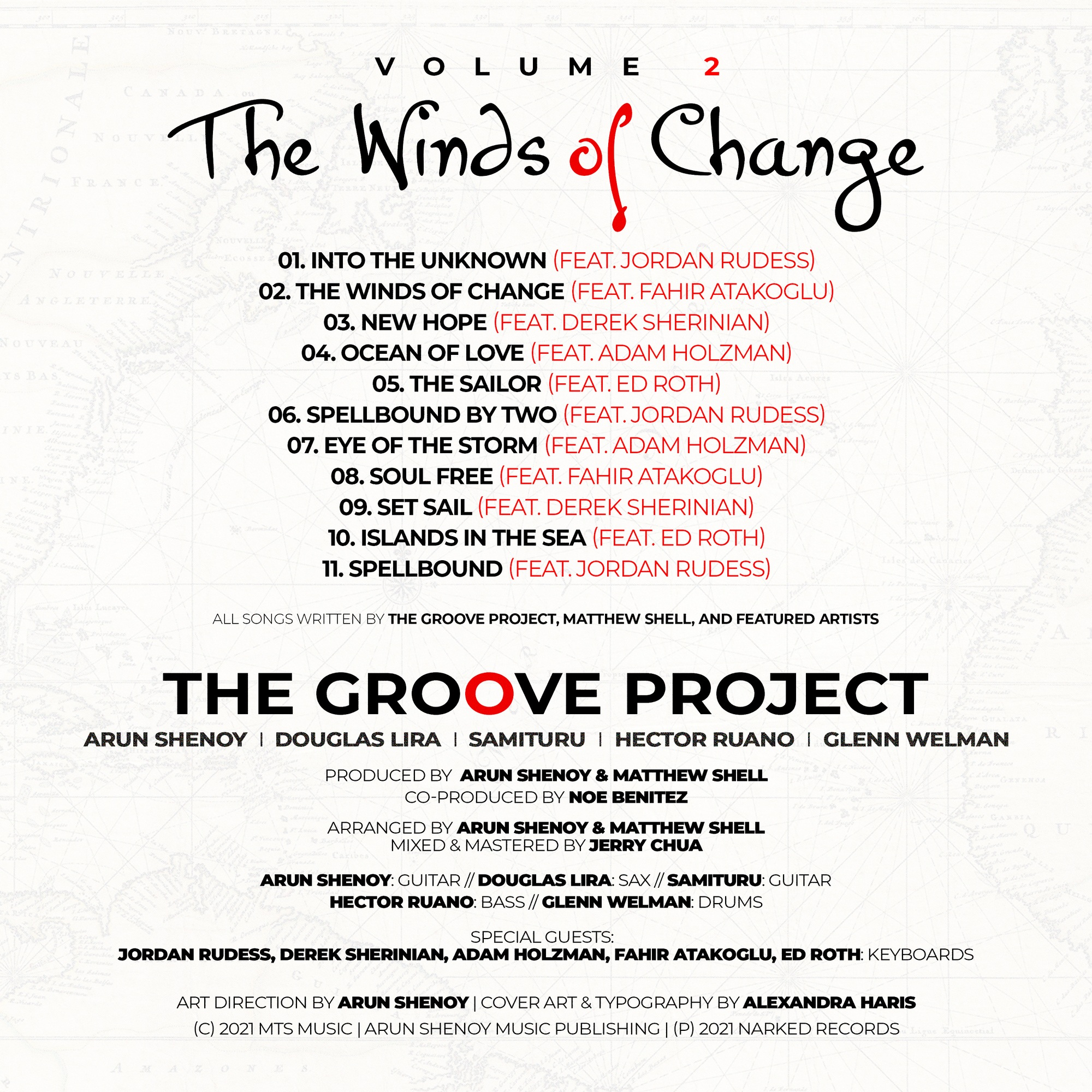 The Groove Project - Credits Sheet